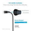 Picture of Anker , Powerline+ , Micro USB 3ft - Gray