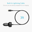 Picture of Anker PowerDrive Elite , 2 Ports Car Charger with Lightning Connector UN - Black