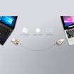 صورة اداتا ، ذاكرة فلاش ميموري من USB-A الى USB-C بسعة 32GB لاجهزة الابتوب والهواتف الذكية  - ذهبي