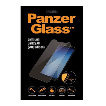 الصورة: بانزر جلاس ، حماية شاشة زجاجية لأجهزة سامسونج A8 2018  - شفاف