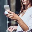 صورة بوب سوكيت ، مسكة و ستاند لاجهزة الذكية - الاماس الاحمر
