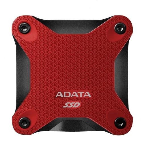 صورة اداتا ، SD600 هاردسك خارجي SSD  بسعة 265 GB مقاوم للصدمات - احمر