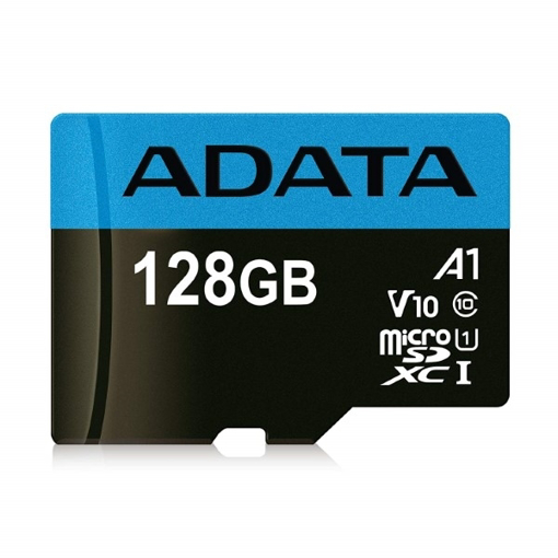 صورة اداتا ، بطاقة ذاكرة مايكرو  SDHC/SDXC UHS-I U1 بسعة 128GB الفئة 10 مع محول