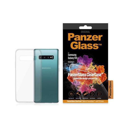 صورة بانزر جلاس ، غطاء خلفي زجاجي مقاوم للصدمات لاجهزة سامسونج +S10 - شفاف