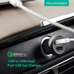 Picture of RAVPower , RP-PC086 17W iSmart Car Charger  - Black
