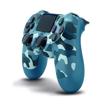 صورة يد التحكم اللاسلكيه ، لبلاي ستيشن 4 دوال شوك 4 - أزرق جيشي