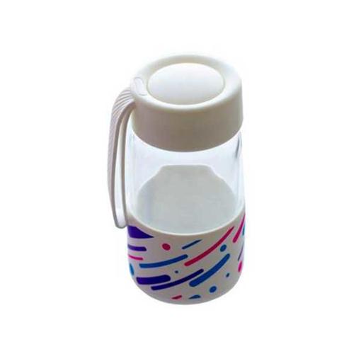 صورة هونر حافظة مياه زجاج سعة 550مل - شفاف
