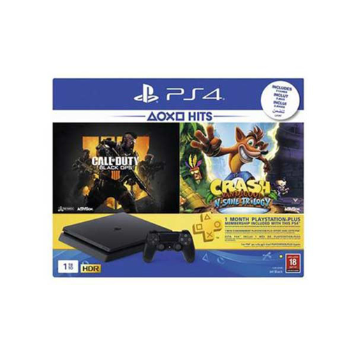 Picture of Sony Playstation PS4 1TB Bundle 2 Games (Call of Duty Black OPS 4 + Crash ) + (PS Plus 30 Days Subscription) +1 Controllers