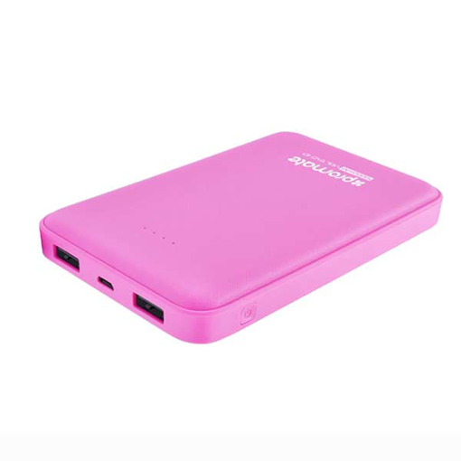 Picture of Promate Power Bank Ultra-Slim Lithium Polymer 10000mAh - Pink