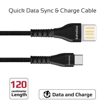 Picture of Promate Double-Sided USB-A To Type-C Cable 1.2m - Black