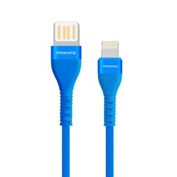 Picture of Promate Double-Sided USB-A To Lightning Cable 1.2m - Blue