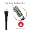Picture of Promate Durable Ultra-Fast Cable USB-A To Type-C Cable 1.2m - Black