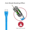 Picture of Promate Durable Ultra-Fast Cable USB-A To Type-C Cable 1.2m - Blue
