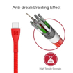 Picture of Promate Durable Ultra-Fast Cable USB-A To Type-C Cable 1.2m - Red