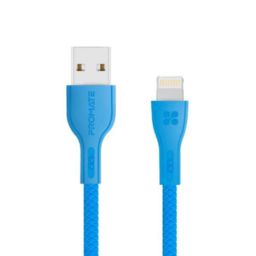 Picture of Promate Durable Anti-Break High-Speed 2A Lightning Cable 1.2m - Blue