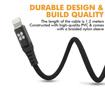 صورة بروميت كابل مقوى الترا سليم رفيع USB-A الى Lightning لاجهزة ابل بطول 1.2 متر - اسود