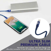 Picture of Promate Durable Apple MFi Ultra-Slim Lightning Cable 1.2m - Blue