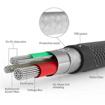 صورة بروميت كابل مقوى سريع USB-A الى Lightning لاجهزة ابل بطول 1.2 متر - اسود