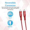 Picture of Promate USB-C To Lightning Cable Support PD Fast Charge 1.2m - Red