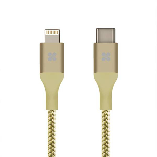 Picture of Promate USB-C To Lightning Cable Support PD Fast Charge 1.2m - Gold