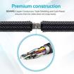 صورة بروميت كابل HDMI مقوى بزاوية 90 درجة يدعم 4K بطول  1.50 متر - اسود