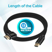 Picture of Promate High Definition Right Angle 4K HDMI Audio Video Cable 1.5m - Black