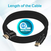Picture of Promate High Definition Right Angle 4K HDMI Audio Video Cable 3.0m - Black