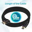 صورة بروميت كابل HDMI مقوى بزاوية 90 درجة يدعم 4K بطول  3.0 متر - اسود