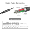 Picture of Promate Apple MFi 3.5mm Audio Cable To Lightning Cable 2.0m - Black