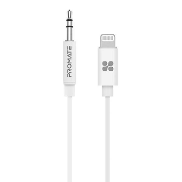 Picture of Promate Apple MFi 3.5mm Audio Cable To Lightning Cable 2.0m - White
