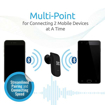 Picture of Promate Atom Sleek Multipoint PairingWireless Headset - Black