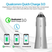 Picture of Promate Robust Car Charger with QC 3.0 Dual USB Port - Silver