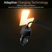 Picture of Promate 3.4A Car Charger with USB-C Coiled Cable - Black
