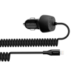 Picture of Promate 3.4A Car Charger with Lightning Coiled Cable - Black