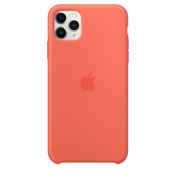 Picture of Apple iPhone 11 Pro Max Silicone Case - Clementine (Orange)