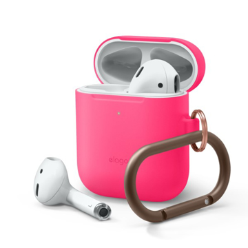 Picture of Elago Hang Silicon Case For Apple AirPods - Neon Hot Pink