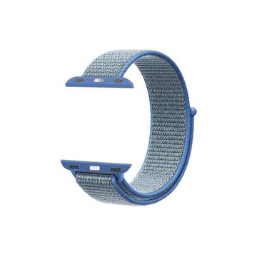 الصورة: بروميت شريط نسيج النايلون لساعات آبل بقياس 42مم - أزرق