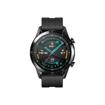 صورة هواوي ساعة جي تي 2 سبورت 46 مم ،ستانلس ستيل ،سوار أسود من الفورو المطاط