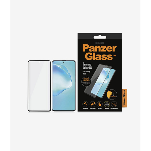 Picture of PanzerGlass Case Friendly Biometric For Samsung S20 - Black