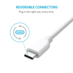 Picture of Anker PowerLine USB-C To USB-A 3.0 3ft - White