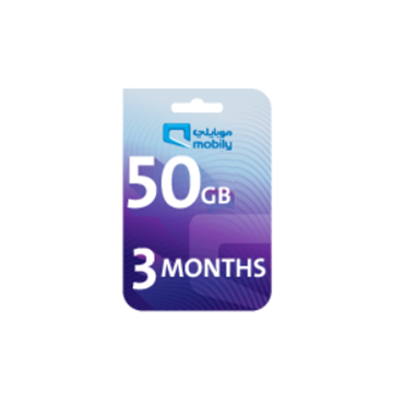 Picture of Mobily Data recharge 50 GB - 3 Months