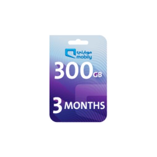 صورة موبايلي بطاقة اعادة شحن الانترنت 300 جيجا لمدة 3 أشهر