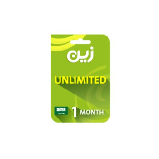 صورة بطاقة زين مسبقة الدفع لشحن الانترنت غير محدوده - لمدة شهر