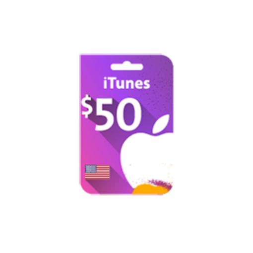 صورة بطاقة ايتونز 50 دولار (المتجر الأمريكي)
