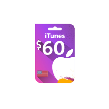 Picture of iTunes Gift Card $60 (US Store)