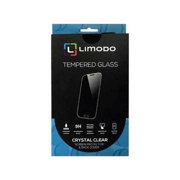 الصورة: ليمودو شاشة حماية زجاجية + غطاء حماية خلفي شفاف لاجهزة سامسونج A70 - شفاف