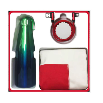 Picture of HUAWEI Fashion UNIV Gift Box (Stainless Steel Thermos + 2 in 1 Data Cable + Canvas Shopping Bag)