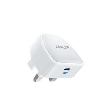 الصورة: انكر باور بورت نانو شاحن منزلي يدعم تقنية الشحن السريع بقوة 20W بمنفذ USB-C - ابيض