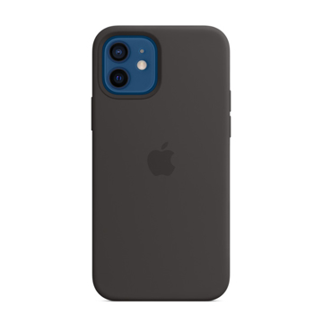Picture of Apple iPhone 12 - 12 Pro Silicone Case with MagSafe - Black