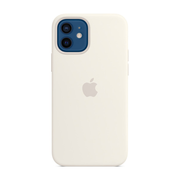 Picture of Apple iPhone 12 - 12 Pro Silicone Case with MagSafe - White